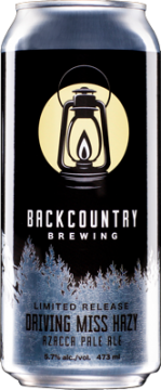 Backcountry Brewing | Driving Miss Hazy Azacca Pale Ale | Front of can