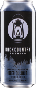 Backcountry Brewing | Beer Du Jour | Front of can