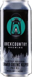 Backcountry Brewing | Former Greens Keeper | Front of can