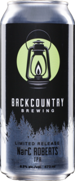Backcountry Brewing | Narc Roberts | Front of can