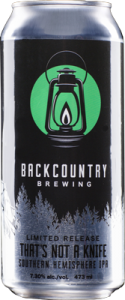 Backcountry Brewing | That's Not A Knife | Front of can