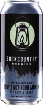 Backcountry Brewing | Baby I Got Your Money Dry Hopped Lager - Can