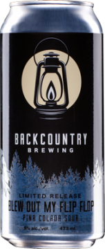 Backcountry Brewing | Blew Out My Flip Flop Pina Colada Sour - Can