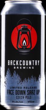 Backcountry Brewing | Face Down Saaz Up - Czech Pils - Can