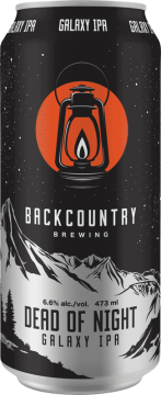 Backcountry Brewing | Dead Of Night (2020) | Galaxy IPA - Front of Can