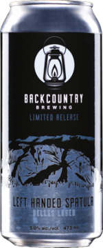 Backcountry Brewing | Left Handed Spatula | Helles Lager - Can