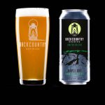 Backcountry Brewing | Maple Bay Fresh Pale Ale - Beer in glass and can