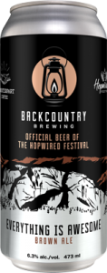 Backcountry Brewing | Everything Is Awesome Brown Ale - Can