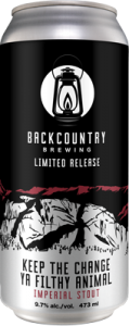 Backcountry Brewing | Keep The Change Ya Filthy Animal - Imperial Stout - Can