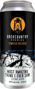 Backcountry Brewing | Most Amazing Thing Citra DIPA - Can