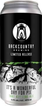 Backcountry Brewing | It's a Wonderful Day For Pie | Tart Key Lime Ale - Can