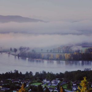 Mist in a Fraser Valley landscape