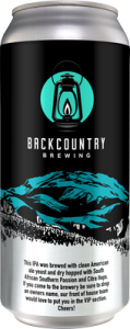 Backcountry - Oh, So You Know The Owner | West Coast IPA - Can