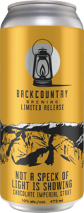 Backcountry - Not A Speck Of Light Is Showing | Imperial Stout - Can