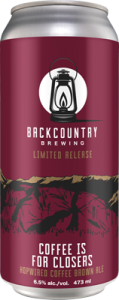 Backcountry - Coffee Is For Closers | Hopwired Coffee Brown Ale - Can