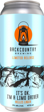 Backcountry - It's OK I'm A Limo Driver | Helles Lager - Can