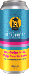 Backcountry - Big Gulps Huh, Welp See Ya Later | Blue Raspberry Lemonade Sour - Can