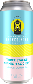 Backcountry - Three Stacks Of High Society | Double IPA - Front of Can