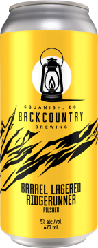Backcountry Brewing - Missed The Starting Gun | 13 Week Lager - Can Front Alternate