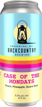 Backcountry Brewing - Case Of The Mondays | Peach, Pineapple & Guava Sour - Front of Can