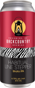 Backcountry Brewing - Habitual Line Stepper   Strata IPA - Front of Can
