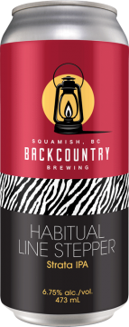 Backcountry Brewing - Habitual Line Stepper | Strata IPA - Front of Can