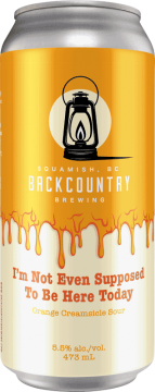 Backcountry Brewing - I'm Not Even Supposed To Be Here Today | Orange Creamsicle Sour - Front Of Can