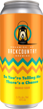 Backcountry Brewing - So You're Telling Me There's A Chance | Mango Sour - Front of Can