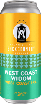 Backcountry Brewing - West Coast Widow | West Coast IPA - Front of Can