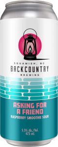 Backcountry Brewing - Asking For A Friend | Raspberry Smoothie Sour - Front of Can