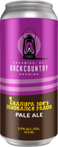 Backcountry Brewing - Grandpa Joe's Insurance Fraud | Pale Ale - Front of Can