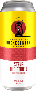 Backcountry Brewing - Steve The Pirate | Hazy Session Ale - Front of Can
