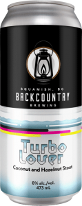 Backcountry Brewing | Turbo Lover | Coconut and Hazelnut Stout - Front of Can