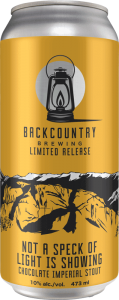 Backcountry Brewing | Not A Speck Of Light Is Showing | Chocolate Imperial Stout - Front of Can