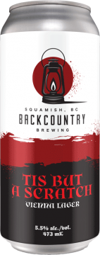 Backcountry Brewing | 'Tis But A Scratch | Vienna Lager - Front of Can