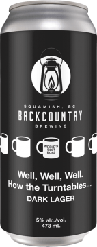 Backcountry Brewing | Well, Well, Well, How the Turntables… | Dark Lager - Front of Can