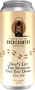 Backcountry Brewing | Don't Let The Muggles Get You Down | Citra IPA - Front of Can