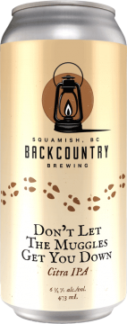 Backcountry Brewing   Don't Let The Muggles Get You Down   Citra IPA - Front of Can
