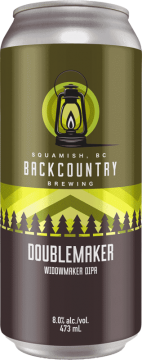 Backcountry Brewing | Doublemaker Widowmaker | Double IPA - Front of Can