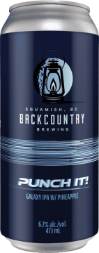 Backcountry Brewing | Punch It! | Galaxy IPA with Pineapple - Front of Can