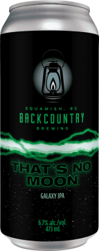 Backcountry Brewing | That's No Moon | Galaxy IPA - Front of Can