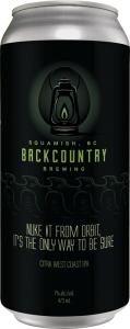 Backcountry Brewing | Nuke It From Orbit, It's The Only Way To Be Sure | Citra West Coast IPA - Front of Can