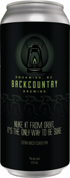 Backcountry Brewing   Nuke It From Orbit, It's The Only Way To Be Sure   Citra West Coast IPA - Front of Can