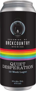Backcountry Brewing   Quiet Desperation   12 Week Lager - Front of Can