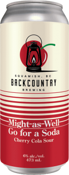 Backcountry Brewing | Might As Well Go For A Soda | Cherry Cola Sour - Front of Can