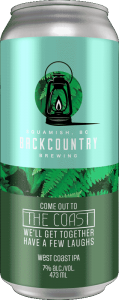 Backcountry Brewing | Come Out To The Coast, We'll Get Together, Have A Few Laughs | West Coast IPA - Front of Can