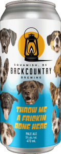 Backcountry Brewing | Throw Me A Frickin Bone Here | Pale Ale - Front of Can