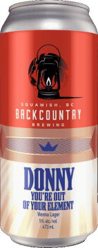 Backcountry Brewing | Donny You're Out Of Your Element | Vienna Lager - Front Of Can