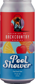Backcountry Brewing   Pool Shower   Kool Aid Fruit Punch Sour - Front Of Can