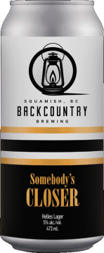 Backcountry Brewing   Somebody's Closer   Helles Lager - Front Of Can